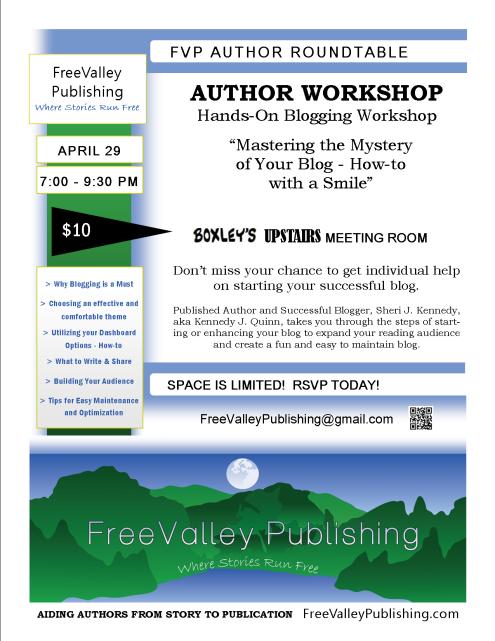 FVP Author Workshop Flyer Hands-On Blogging Workshop 4-29-14